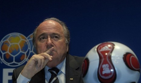 President of FIFA Joseph Blatter (file photo)
