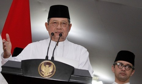 President Susilo Bambang Yudhoyono explains the government's stance on Rohingya issue on Saturday night.