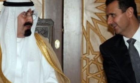 Raja Saudi Abdullah dan Presiden Suriah Bassar al Assad