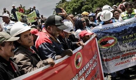 Polisi Proses Penggerak Massa Serikat Pekerja Freeport