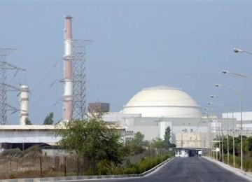 Reaktor nuklir Iran yang terletak di selatan kota Bushehr, Iran.