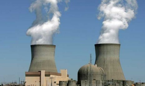 Reaktor nuklir Plant Vogtle di Waynesboro, Georgia, Amerika Serikat.