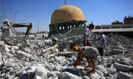 Biadab, Israel Hancurkan 25 Masjid di Gaza