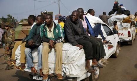 Ribuan Muslim Republik Afrika Tengah (CAR) mengungsi.
