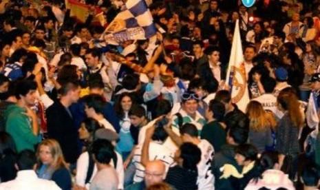 Ribuan orang rayakan kemenangan Real Madrid