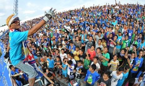 Suporter fanatik PSIS Semarang.