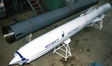 Rudal Yakhont milik Rusia yang dikirimkan ke Suriah.