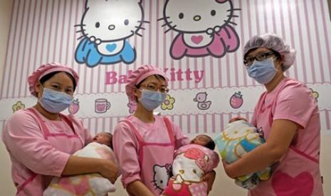 Rumah bersalin bertema Hello Kitty hadir di Taiwan