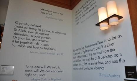 Cerita dari Harvard Law School (2) Ayat Alquran di Dinding Kampus