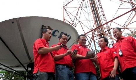 Salah satu BTS satelit Telkomsel di Jawa Timur.