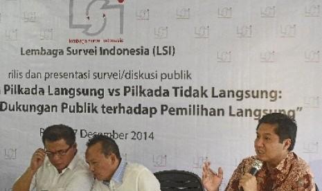 Salah satu hasil sigi Lembaga Survei Indonesia (LSI).