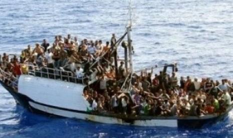 Salah satu kapal imigran gelap (ilustrasi).