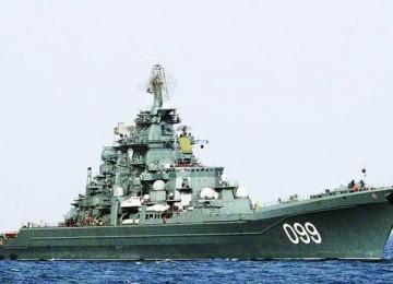 Salah satu kapal perang Rusia, Admiral Panteyeye