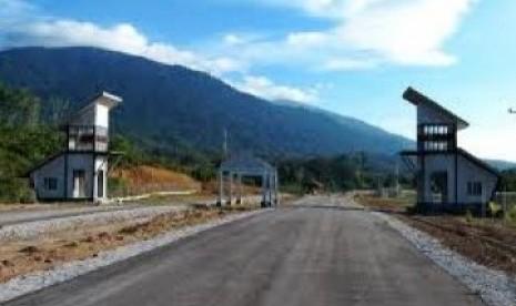 Salah satu kawasan perbatasan Indonesia dan Malaysia di pulau Kalimantan.