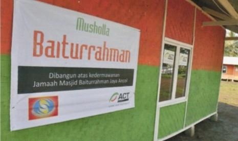 Salah satu mushalla yang didirikan ACT.
