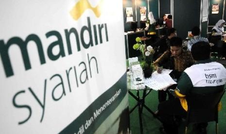 Salah satu outlet Bank Syariah Mandiri.