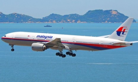 Salah satu pesawat milik maskapai Malaysia Airlines.