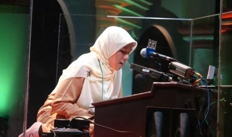 Salah satu peserta MTQ saat membaca ayat suci Alquran (ilustrasi).