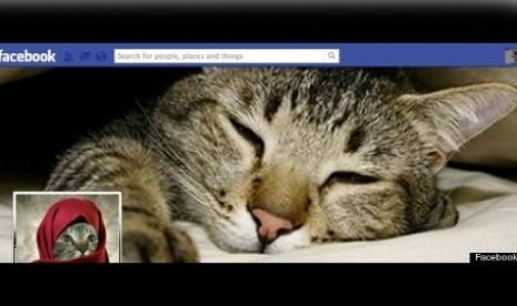 Salah satu profil pengguna akun Facebook dengan kaki empat.