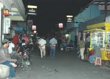 Salah satu sudut Gang Dolly di Surabaya, Jawa Timur.