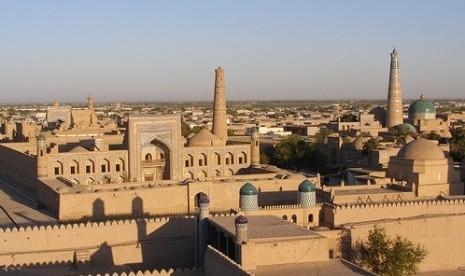 Salah satu sudut Kota Khiva atau Khwarizmia.