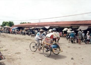 Salah satu sudut kota Timika, Papua.