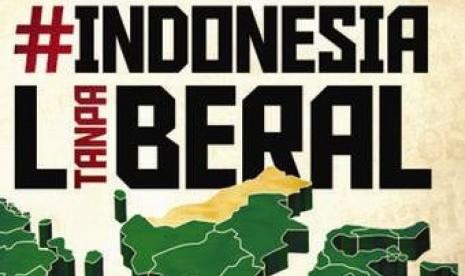Sampul depan buku Indonesia Tanpa Liberal.