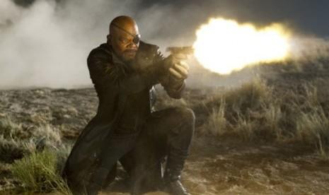 Samuel L Jackson dalam salah satu adegan film The Avengers