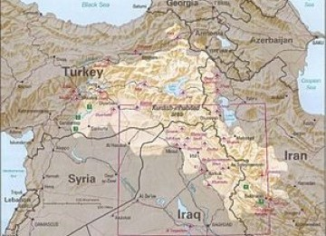 Sejumlah wilayah dengan keberadaan Suku Kurdi