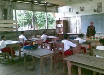 Sekolah SD di pedalaman, ilustrasi