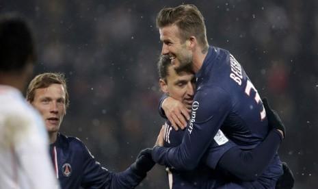 David Beckham dan Zlatan Ibrahimovic, dua pemain Paris Saint-Germain (PSG) yang masuk daftar 20 pemain dengan bayaran tertinggi di dunia.