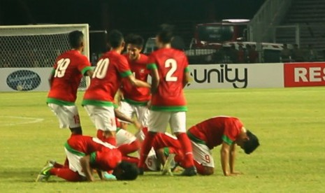 Selebrasi Timnas Indonesia U-19