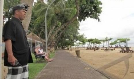 Sanur, Bali, pada Hari Raya Nyepi Tahun Baru Saka 1934, Jumat (23/3