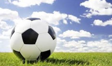 Pertandingan sepak bola ilustrasi