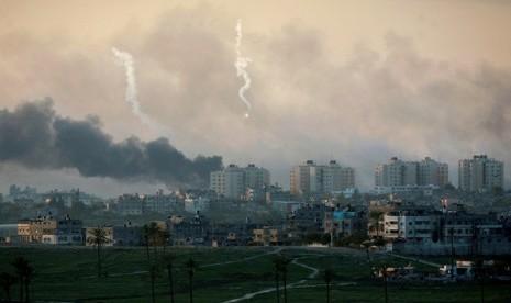 Serangan Israel ke Gaza tahun 2008 lalu yang diduga menggunakan senjata kimia