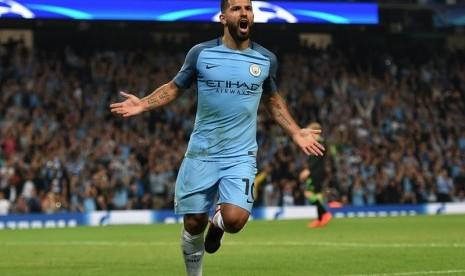 Aguero: City akan Menangkan Derby Manchester