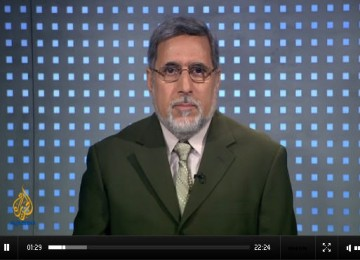 Shaker Al Sayed saat berdialog di Televisi Al Jazeera
