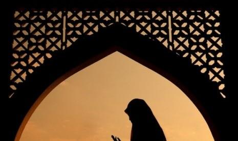 siluet muslimah