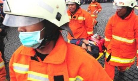 Simulasi pemadaman kebakaran.  (Ilustrasi)