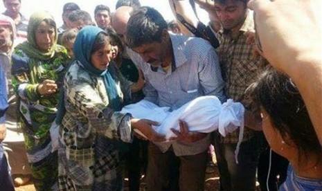 Pemakaman Aylan Kurdi, balita Suriah yang tewas tenggelam dan ditemukan di pantai Turki.