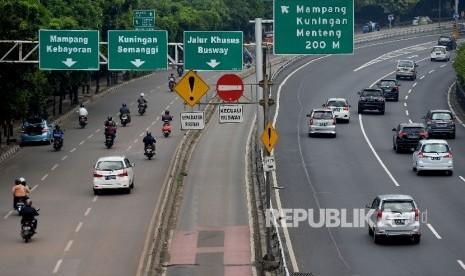 In Picture: Libur Isra Mi'raj, Lalu Lintas Jakarta Lengang