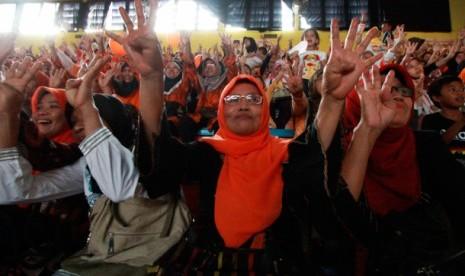 Suasana saat kampanye Hidayat-Didik.