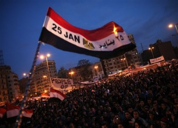 Suasana Lapangan Tahrir pada Kamis (10/1) sore