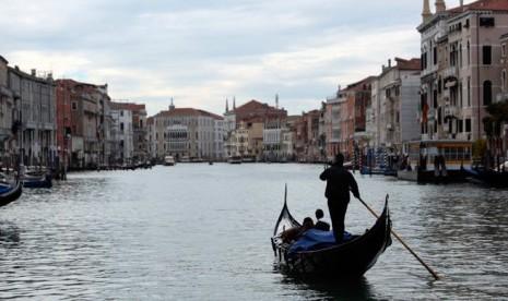 Sudut Kota Venesia, Italia.