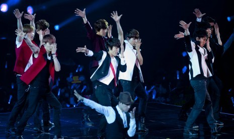 Super Junior in action (photo file)
