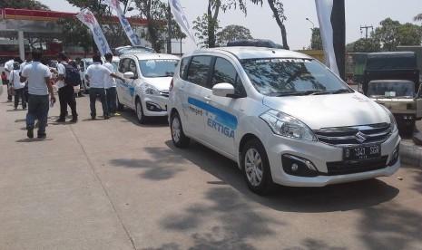 Suzuki 'New Ertiga'yang siap diuji dalam test drive dari Jakarta menuju Cirebon