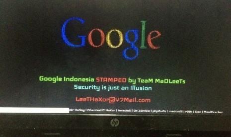Google Indonesia Di bajak ( hacked )