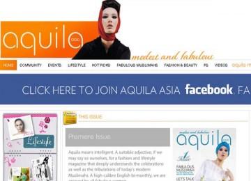 Tampilan situs majalah Aquila