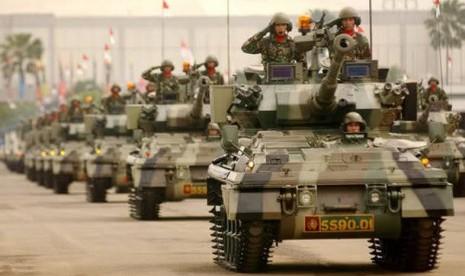 Tank Scorpion Amankan Perbatasan RI-Malaysia