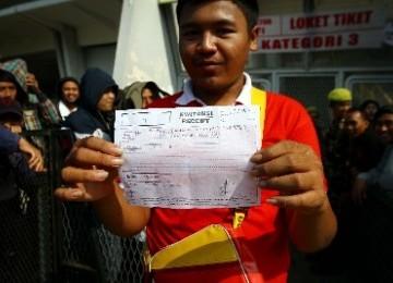 Tiket Palsu Indonesia vs Bahrain Beredar